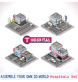 Game Set 15 Building Isometric vector image vector image