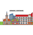 germany dortmund city skyline architecture vector image vector image