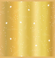 gold foil star confetti curls pattern vector image