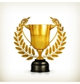 Golden trophy old-style isolated vector image vector image