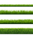 green grass borders set isolated background vector image vector image