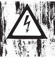 Grunge Danger Texture vector image