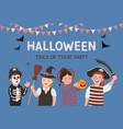 halloween party poster kids costume vector image vector image