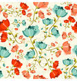 Happy spring Poppy flower pattern vector image vector image