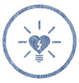 heart electric bulb rounded fabric textured icon vector image vector image