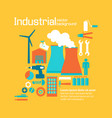industrial factory design yellow background vector image vector image