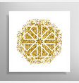 islamic golden pattern vector image vector image
