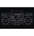isolated ghetto blaster vector image vector image