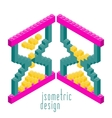 Isometric Plastic Building Blocks and Tiles vector image vector image