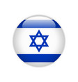 israel flag on button vector image