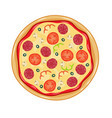 italian pizza with tomato sausage vector image