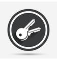 Keys sign icon Unlock tool symbol vector image vector image