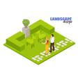 landscape design concept vector image vector image