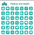 Medical and health big icon set vector image vector image