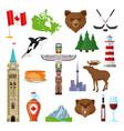 national symbols canada set vector image vector image