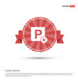 no parking icon - red ribbon banner vector image