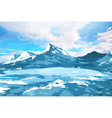 Norway high mountains vector image vector image