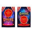 poster for circus vector image