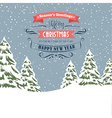 Retro Christmas - holidays type design vector image vector image