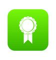 rosette with ribbon icon digital green vector image