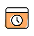 safe web browsing with in built timer function vector image vector image