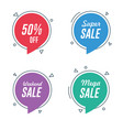 sale and discount circle speech bubble banners vector image vector image