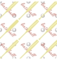 Seamless pattern with ball and a baseball bat vector image