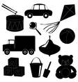 Set of toys silhouettes 1 vector image