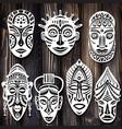 set tribal african masks
