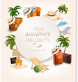 set vacation related icons vector image