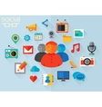 social networking concept vector image