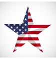 Star in national flag usa vector image