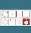 sticky note collection for christmas and vector image
