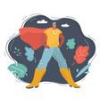 superhero man on dark vector image