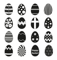 various black Easter eggs design collection eps10 vector image vector image