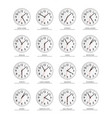 world time watch time zones flat vector image vector image