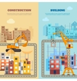 Construction And Building Banner Set vector image