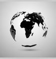 polygonal earth silhouette vector image