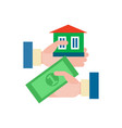 sale of an apartment a house vector image