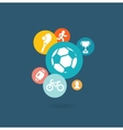 Sport composition of icons vector image