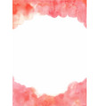 abstract pink peach watercolor hand painting vector image