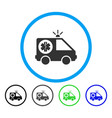 ambulance car rounded icon vector image