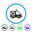 ambulance car rounded icon vector image