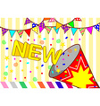 background new party vector image vector image