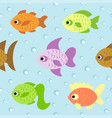 background seamless card with fish vector image