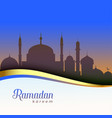 beautiful ramadan kareem scene background vector image vector image
