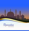 beautiful ramadan kareem scene background vector image vector image