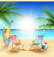 beautiful summer beach background vector image