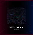 big data visualization distortion stream vector image vector image