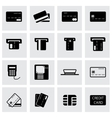black credit card icon set vector image vector image